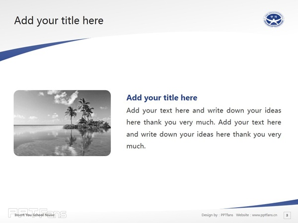 Cheju Halla College powerpoint template download | 济州汉拿大学PPT模板下载_slide4
