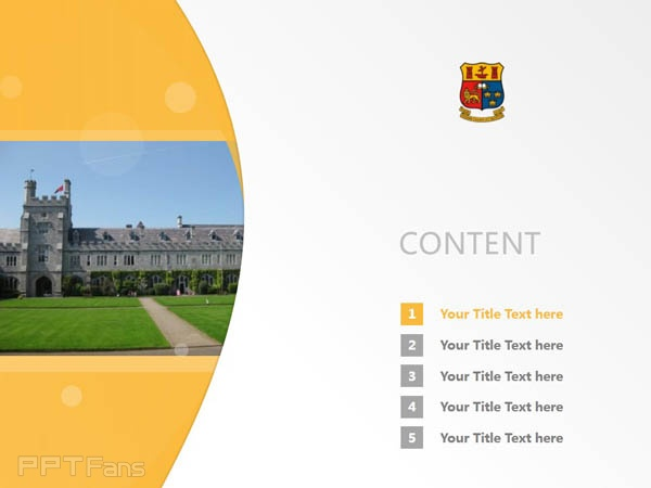 University College of Cork powerpoint template download | 科克大学学院PPT模板下载_slide2