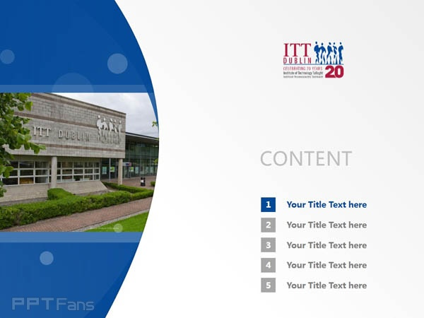 Institute of Technology, Tallaght powerpoint template download | 塔拉理工学院PPT模板下载_slide1