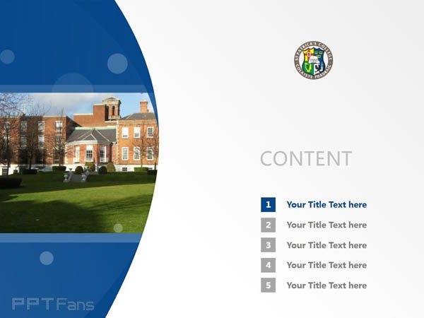 St. Patrick College powerpoint template download | 圣帕特里克学院PPT模板下载_slide2