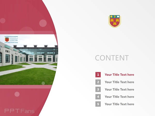 Institute of Technology, Carlow powerpoint template download | 卡罗理工学院PPT模板下载_slide2