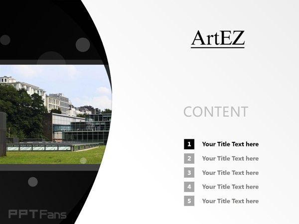 ArtEZ Institute of the Arts powerpoint template download | ArtEZ艺术学院PPT模板下载_幻灯片预览图2