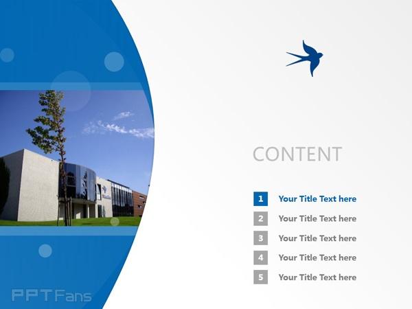 Stenden University powerpoint template download | 斯坦德应用科学大学PPT模板下载_幻灯片预览图2
