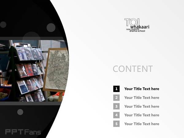 Te Kura Toi Whakaari O Aotearoa: New Zealand Drama School powerpoint template download | 新西兰戏剧学院PPT模板下载_幻灯片预览图2