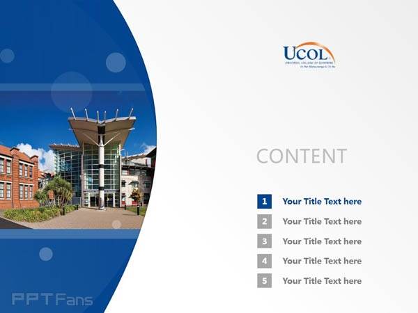 Universal College of Learning powerpoint template download | 环球理工学院PPT模板下载_幻灯片预览图2