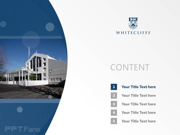 Whitecliff College of Arts and Design powerpoint template download | 怀特克利夫艺术设计学院PPT模板下载_幻灯片预览图2