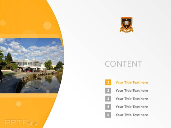 The University of Waikato powerpoint template download | 怀卡托大学PPT模板下载_幻灯片预览图2