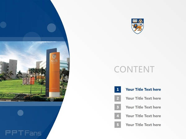 National University of Singapore powerpoint template download | 新加坡国立大学PPT模板下载_幻灯片预览图2