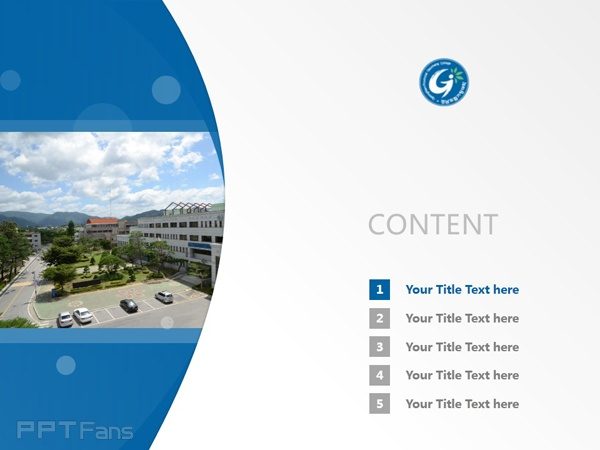 Geochang Provincial College powerpoint template download | 庆南道立居昌大学PPT模板下载_slide1