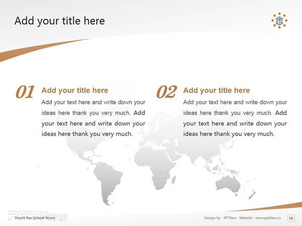 Tilburg University powerpoint template download | 蒂尔堡大学PPT模板下载_slide10