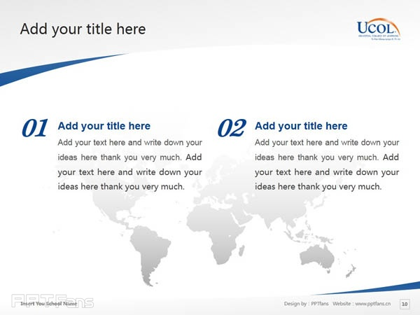 Universal College of Learning powerpoint template download | 环球理工学院PPT模板下载_幻灯片预览图11