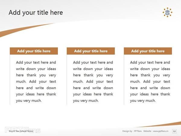 Tilburg University powerpoint template download | 蒂尔堡大学PPT模板下载_slide12