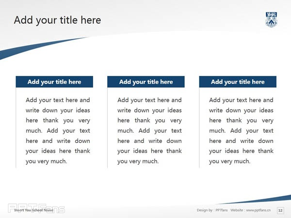 Whitecliff College of Arts and Design powerpoint template download | 怀特克利夫艺术设计学院PPT模板下载_幻灯片预览图13