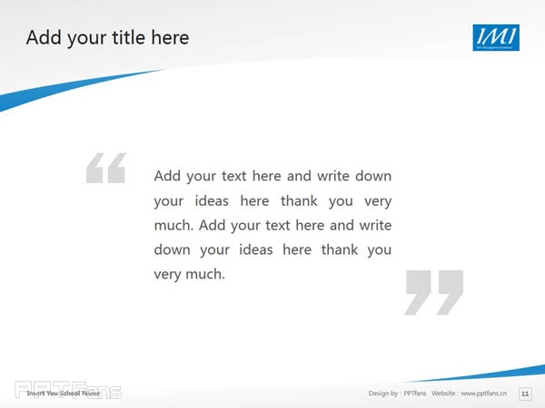 Irish Management Institute powerpoint template download | 爱尔兰管理学院PPT模板下载_slide12