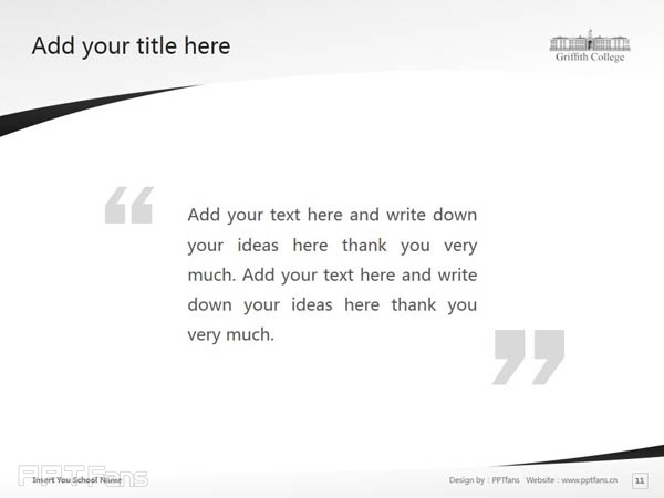 Griffith College Cork powerpoint template download | 科克格里菲斯学院PPT模板下载_slide12