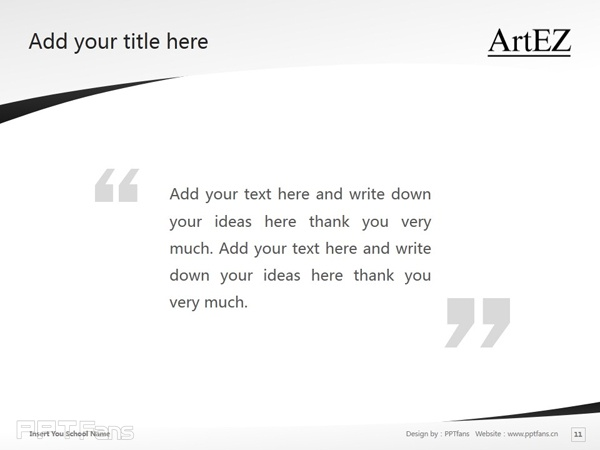 ArtEZ Institute of the Arts powerpoint template download | ArtEZ艺术学院PPT模板下载_幻灯片预览图12