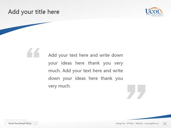 Universal College of Learning powerpoint template download | 环球理工学院PPT模板下载_幻灯片预览图12