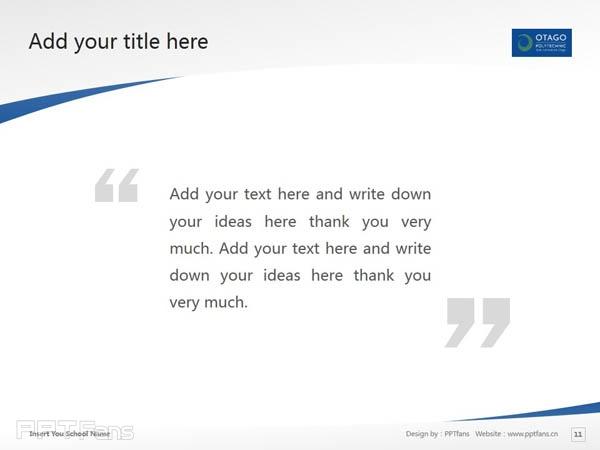 Otago Polytechnic powerpoint template download | 奥塔哥理工学院PPT模板下载_幻灯片预览图12