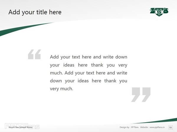 Wellington College of Education powerpoint template download | 惠灵顿维多利亚大学教育学院PPT模板下载_幻灯片预览图12
