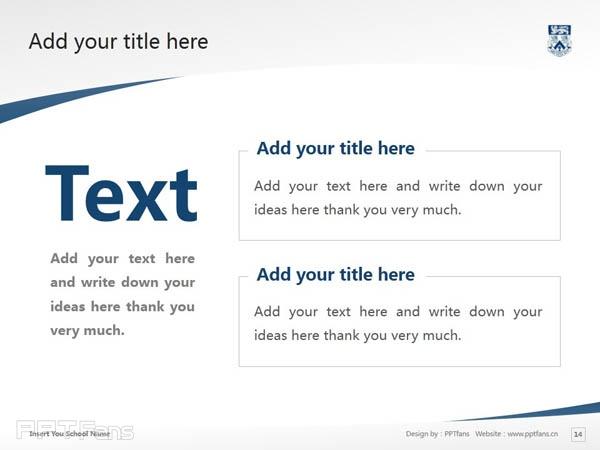 Whitecliff College of Arts and Design powerpoint template download | 怀特克利夫艺术设计学院PPT模板下载_幻灯片预览图15