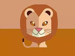 三分钟教程(200):用PPT手绘小狮子