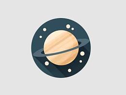 三分钟教程(205):用PPT绘制一枚扁平行星图标