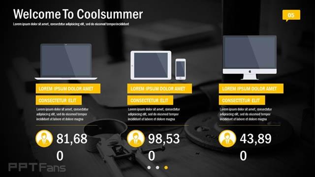 黄黑色高科技/互联网风格PPT模板免费下载_预览图6