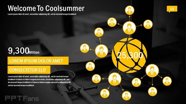 黄黑色高科技/互联网风格PPT模板免费下载_预览图14