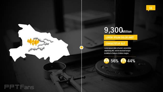 黄黑色高科技/互联网风格PPT模板免费下载_预览图12