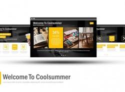 黄黑色高科技/互联网风格PPT模板免费下载