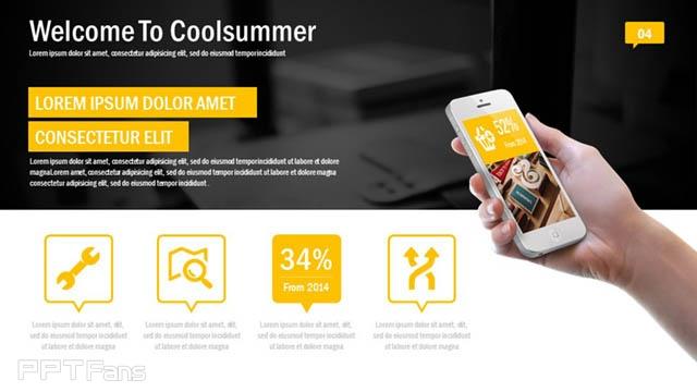 黄黑色高科技/互联网风格PPT模板免费下载_预览图5