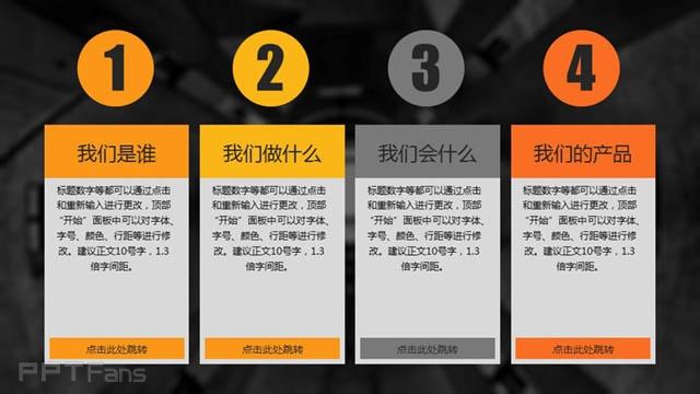 一款黑黄色高端公司介绍PPT模板_预览图3