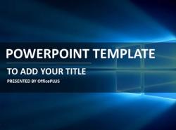 未来之窗微软PPT模板下载