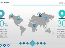 矢量世界地图PPT