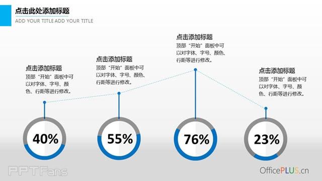 环形图+文字说明PPT模板_预览图3