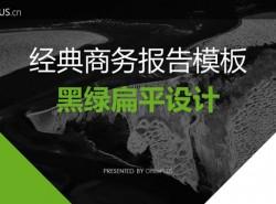 黑绿扁平设计,经典商务报告模板