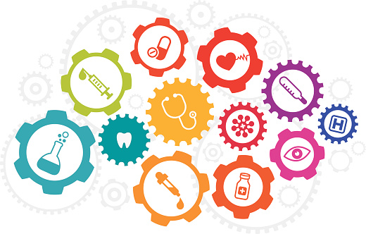 Health Care And Medicine Concept With Icon Set