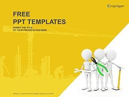 建筑工程合作PPT模板(4:3)