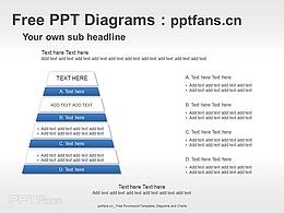 四层金字塔PPT图示