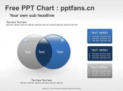 质感交叉小球示意PPT模板