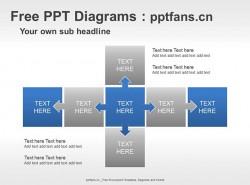 矩阵和箭头流PPT模板下载