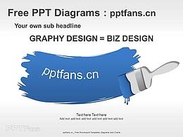油漆刷子PPT模板素材下載