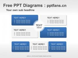 4部分总分关系PPT模板