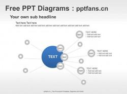 总分关系点状发散PPT模板
