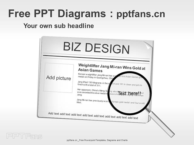 新闻焦点图放大镜PPT模板_预览图1