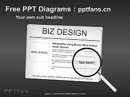 新聞焦點圖放大鏡PPT模板
