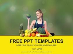 营养饮食 水果 PPT模板下载