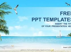 沙滩度假PPT