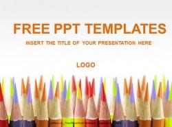 彩铅美术PPT模板