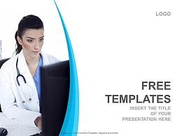 蓝色精美医学医疗行业PPT模板下载